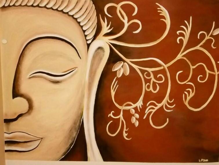 Buddha přec celou zeď